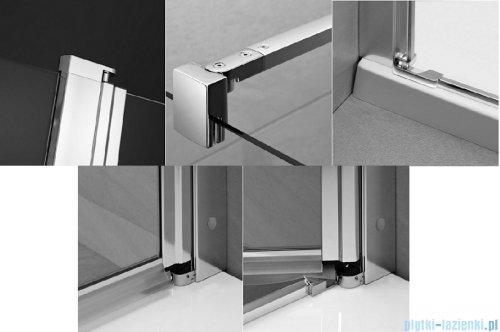 Radaway Eos II KDJ kabina prysznicowa 80x80 prawa szkło przejrzyste 3799420-01R/3799430-01L