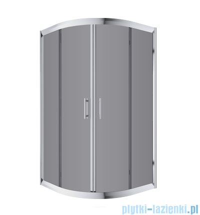 Omnires Health kabina 2-skrzydłowa niska 80x80x165cm szkło grafit JK2808CLC2Grafit