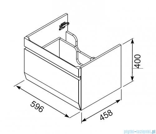 rysunek techniczny Oristo Horyzont szafka  z umywalką Amelia 60x40x46cm biały mat OR37-SD1S-60-2/UME-AM-60-92