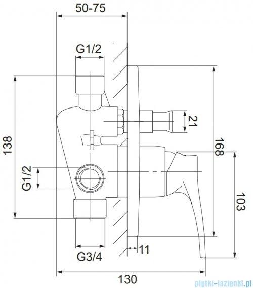 Omnires Art Deco kompletny zestaw podtynkowy chrom SYSAD25CR