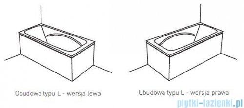 Poolspa Obudowa jednoczęściowa typu L (lewa) do Wanny PWOHG10OWL00000