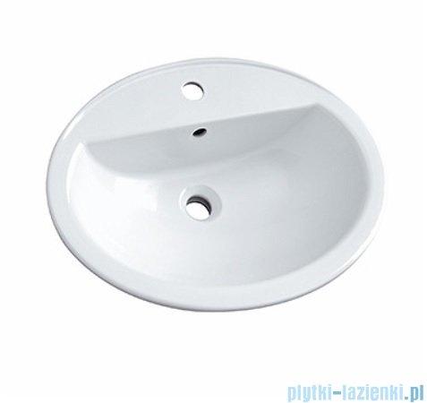 Koło Nova Top Umywalka wpuszczana w blat 60cm z otworem 1527000