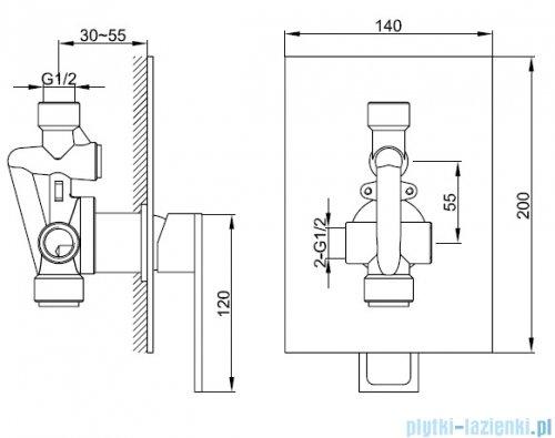 Kohlman Nexen zestaw prysznicowy chrom QW220USP1