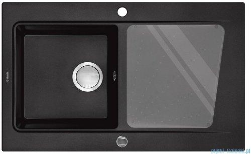 Deante Modern Zlewozmywak 1-komorowy z ociekaczem, kolor grafitowy metalik ZQM G113