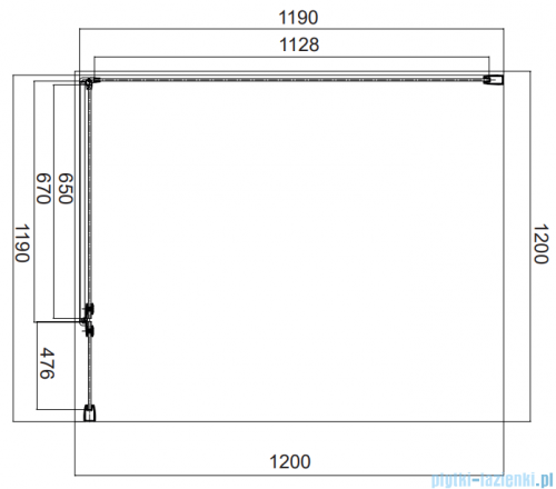 Omnires Manhattan kabina kwadratowa 120x120cm szkło przejrzyste MH1212CRTR