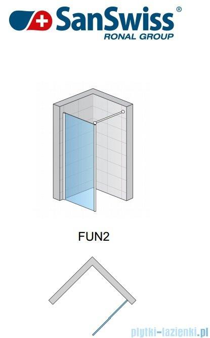 SanSwiss Fun Fun2 kabina Walk-in 90cm profil połysk FUN209005007