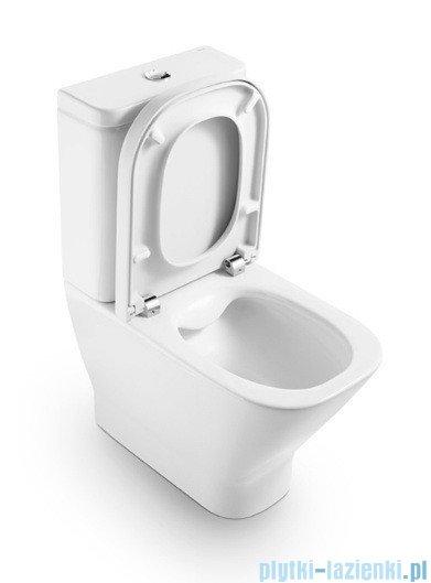 Roca Gap Miska WC do kompaktu Clean Rim (bez kołnierza) powłoka Maxi Clean