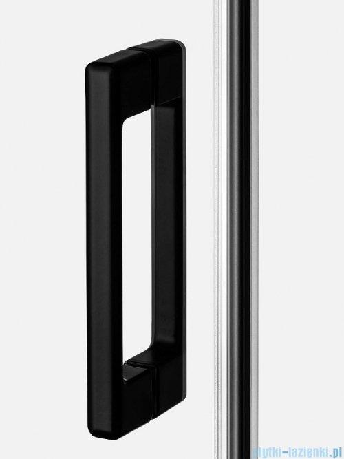 New Trendy Prime Black kabina prostokątna 140x80x200 cm prawa przejrzyste D-0325A/D-0128B