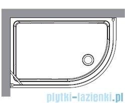 Kerasan Kabina półokrągła prawa szkło przejrzyste profile brązowe 80x120 Retro 9137T3