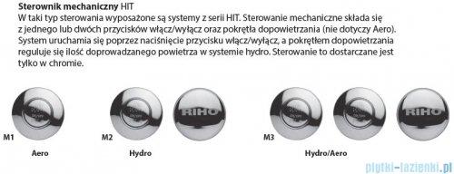 Riho Julia wanna prostokątna 180x80 z hydromasażem Hit Hydro 6+4+2 BA72H2