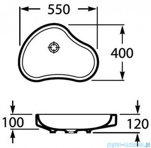 Roca Urbi 8 Umywalka nablatowa 55x40cm biała A32722A000