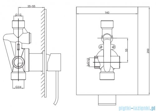 Kohlman Axis zestaw prysznicowy chrom QW220NQ40