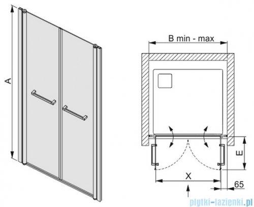 Sanplast drzwi skrzydłowe szkło: przejrzyste  DD/PRIII-100    600-073-0940-01-401