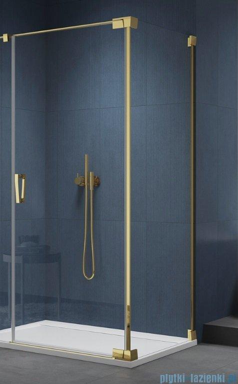 SanSwiss Cadura Gold Line ścianka boczna Cat2 90x200cm profile złote CAT20901207