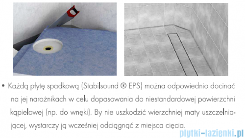 Schedpol brodzik posadzkowy podpłytkowy ruszt Stamp 120x90x5cm 10.011/OLKB/SP