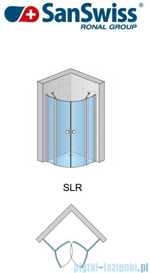 SanSwiss Swing Line SLR Kabina półokrągła 90cm profil srebrny SLR5509000107