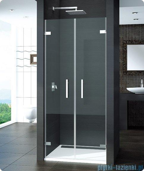 SanSwiss Pur PUR2 Drzwi 2-częściowe wymiar specjalny profil chrom szkło Master Carre PUR2SM21030