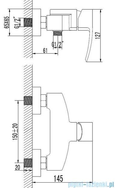 Omnires Murray bateria natryskowa chrom MU6140CR