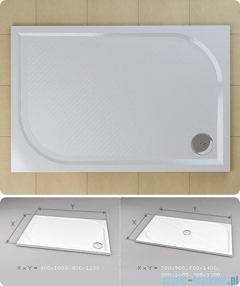 SanSwiss Marblemate Wma Brodzik prostokątny 80x120cm biały WMA8012004
