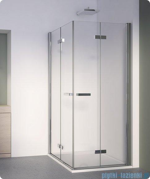 SanSwiss Swing Line F SLF2 Wejście narożne z drzwiami 100cm profil biały Prawe SLF2D10000407