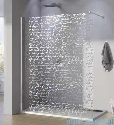 SanSwiss Walk-in Pur PDT4P Kabina 120x200cm szkło dekor pismo PDT4P1201063