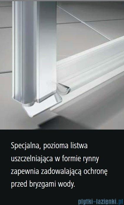 Kermi Osia Kabina prysznicowa 1 skrzydłowa prawa, szkło przezroczyste 100x80 cm OSSTR10020VPK/OSTWD08020VPK