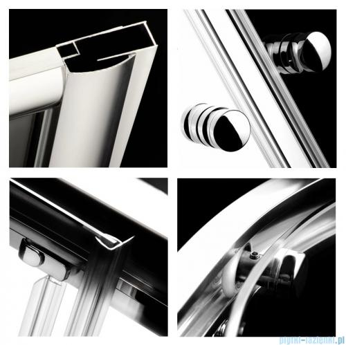 Radaway Classic A Kabina prysznicowa półokrągła z drzwiami przesuwnymi 80x80x170 szkło przejrzyste profile białe 30011-04-01