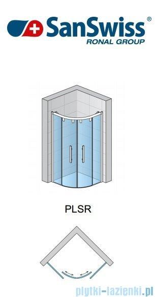 SanSwiss Pur Light S PLSR Kabina półokrągła z drzwiami rozsuwanymi 100cm PLSR551000407