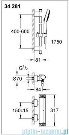 Grohe Grohtherm 2000 NEW bateria prysznicowa z termostatem DN 15 34195001