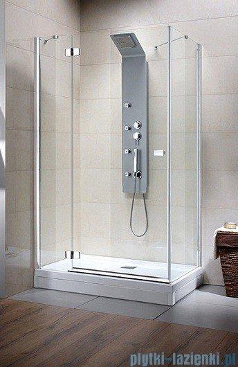 Radaway Kabina prysznicowa Fuenta KDJ 100x80 lewa szkło brązowe