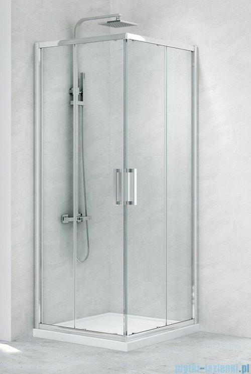 New Trendy New Praktic Kabina prysznicowa prostokątna z drzwiami przesuwnymi 90x100x195 przejrzyste