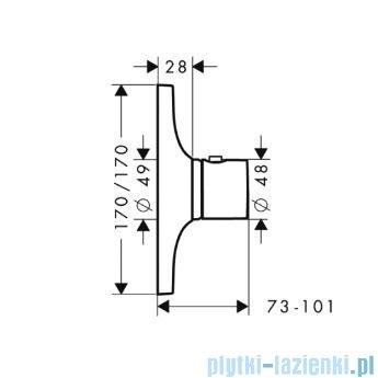 Hansgrohe Axor Bateria termostatowa podtynkowa High Flow 18741000