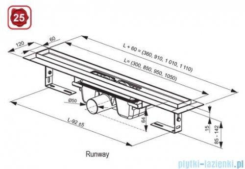 Ravak Runway odpływ liniowy nierdzewny 300mm X01418
