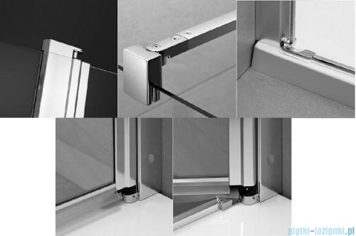 Radaway Eos II PDD kabina prysznicowa 80x100 szkło przejrzyste 3799470-01L/3799472-01R