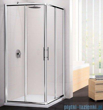 Novellini Ścianka Kabiny prysznicowej LUNES 78 cm szkło przejrzyste profil biały LUNESA78L-1D