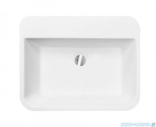 Besco Assos S-Line Glam Srebrna umywalka wolnostojąca 40x50x85cm #UMD-AP-WOS