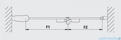 Kermi Diga Drzwi wahadłowo-składane do ściany bocznej, lewe, szkło przezroczyste, profile białe 120x200 DI2SL120202AK