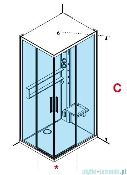 Novellini Glax 2 2.0 kabina z hydromasażem 90x90 total biała G22A99M1-1UU