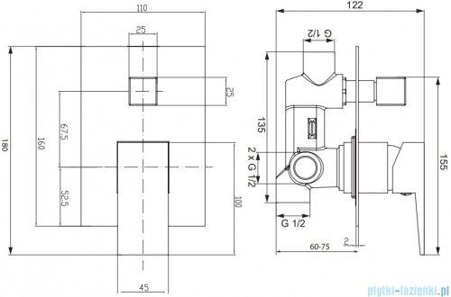 Omnires Fresh System wannowy podtynkowy chrom SYSFRW01CR