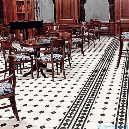 Realonda Oxford Negro Esquina płytka podłogowa 33x33