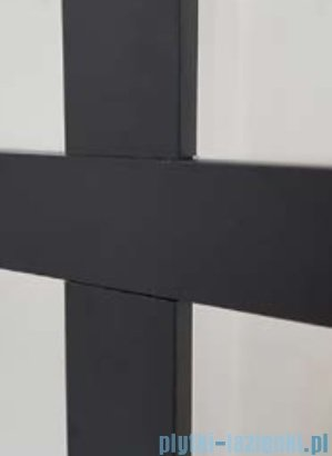 Kermi kabina Walk-in Dark Edition 120x200 cm kratka dekoracyjna profil XDWW2120203PK