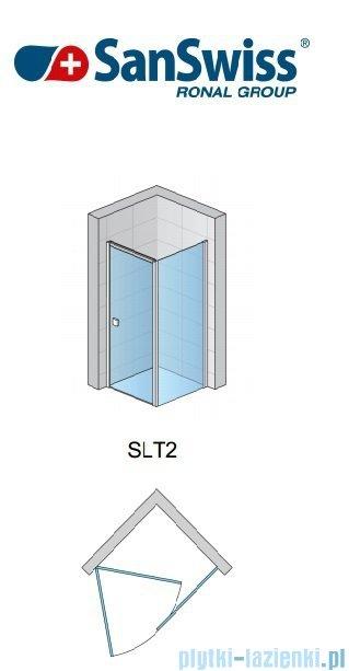 SanSwiss Swing Line SLT2 Ścianka boczna 75cm profil srebrny SLT207500107