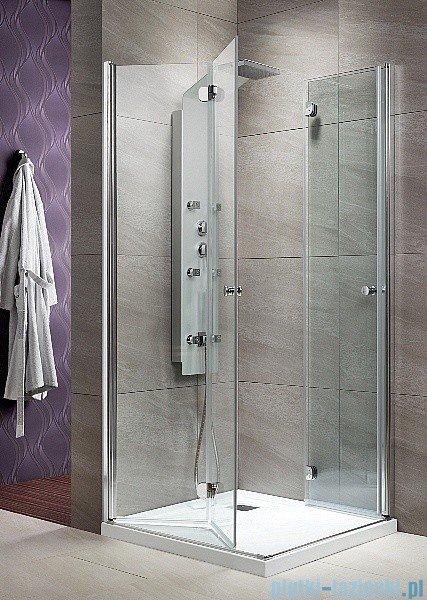 Radaway KDD-B kabina prysznicowa Eos 90x90 szkło przejrzyste + brodzik Delos C + syfon