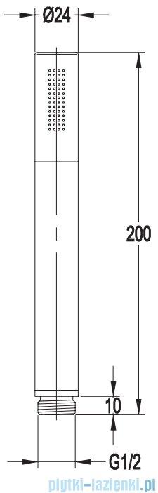 Omnires Y podtynkowy zestaw prysznicowy czarny mat rysunek techniczny