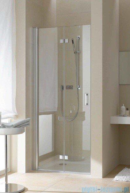 Kermi Diga Drzwi wahadłowo-składane, lewe, szkło przezroczyste, profile białe 90x200 DI2DL090202AK