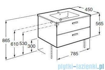 Roca Victoria Basic Zestaw łazienkowy Unik szafka z umywalką 80cm orzech A855852222