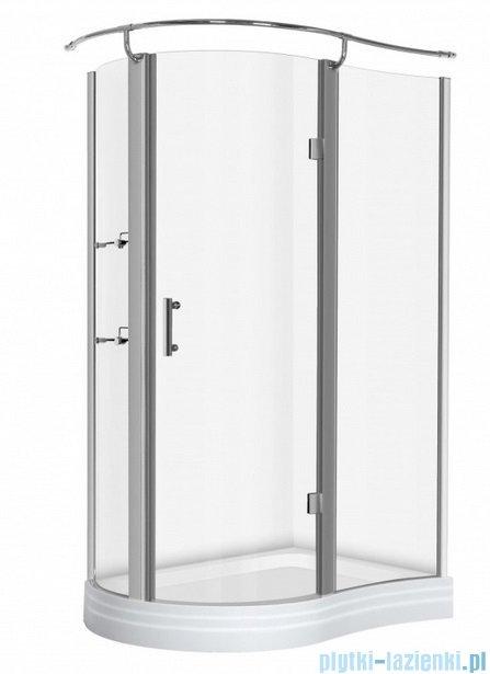 NOVOTERM kabina prysznicowa prawa szkło: transparentne 120x90 NERO Prawa T