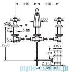Kludi Adlon Bateria umywalkowa DN 15 chrom 510430520
