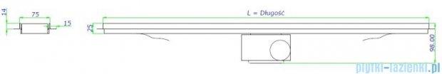 Green Line odpływ liniowy 90 cm clear + syfon GL900CL