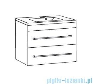 Antado Variete ceramic szafka podumywalkowa 2 szuflady 72x43x50 czarny połysk FM-AT-442/75/2GT-9017